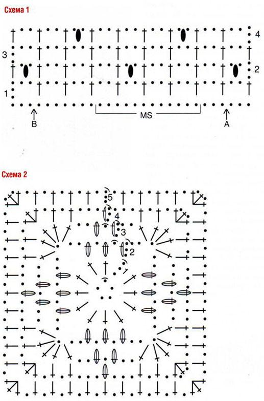 Вязание крючком схемы бесплатно: болеро с рукавами и воротником.