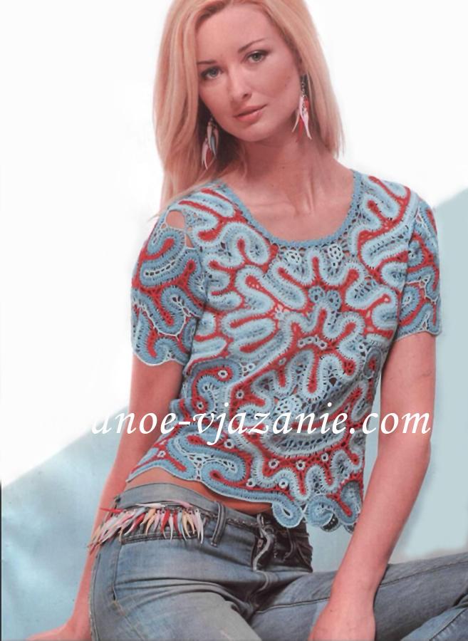 Блуза брюггские кружева