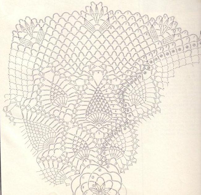 Вязание крючком салфетки с узором ананасы 997
