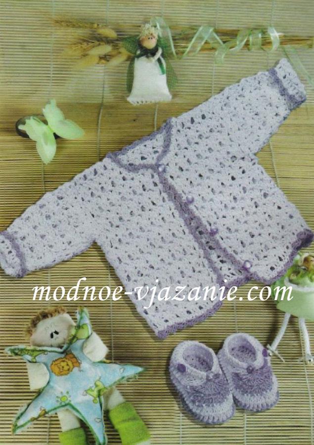 Ажурное вязание на спицах пледов