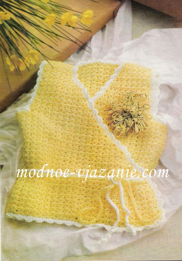 Вязание плед полосами