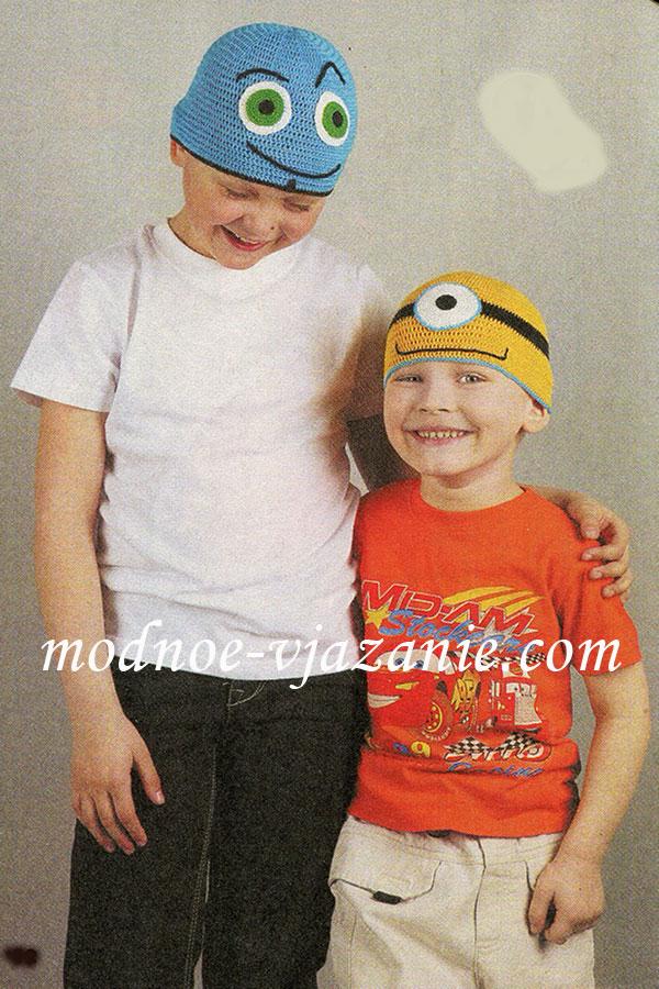 шапочки для девочек Вязание крючком