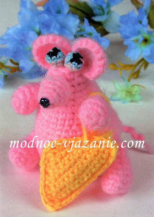 Игрушка Розовая мышка