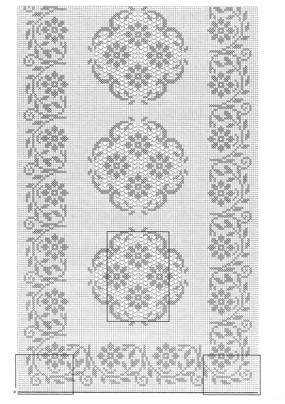 Схемы прямоугольных салфеток