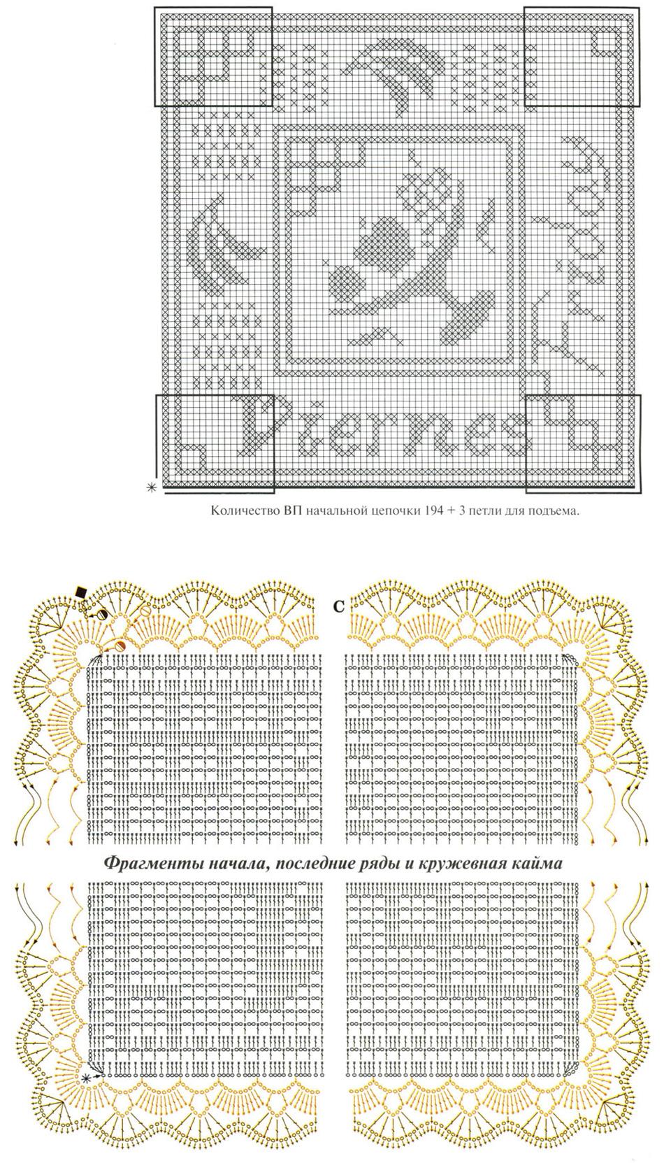 Схема штор филейное вязание крючком