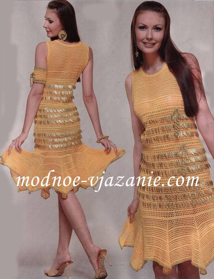 Платье, украшенное пайетками