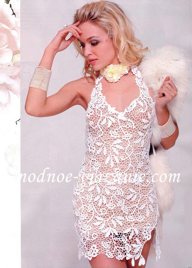 Кружевное платье крючком - Все о моде