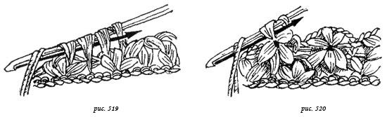 Пышные столбики крючком как вязать