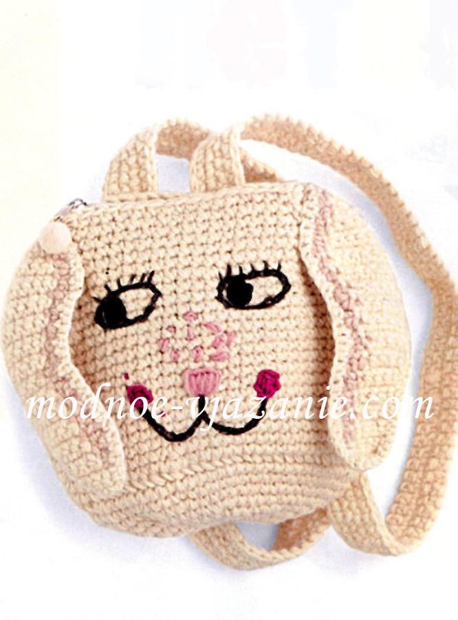 Вязание крючком рюкзаки для девочек схемы
