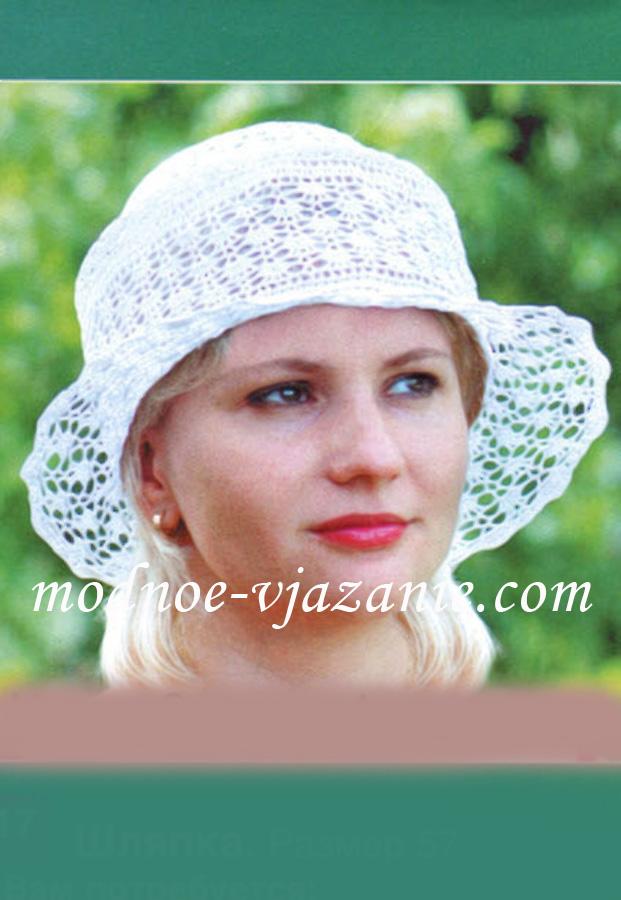 Ажурная шляпа крючком: вязанные рюши и