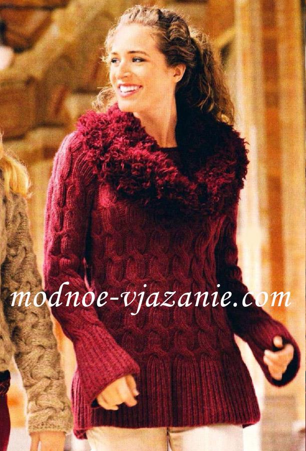 пуловер и воротник-хомут
