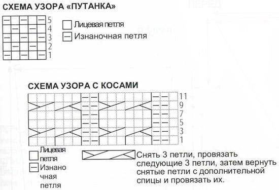 спицами схема путанка