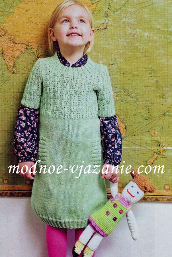 Вязание крючком туника на девочку