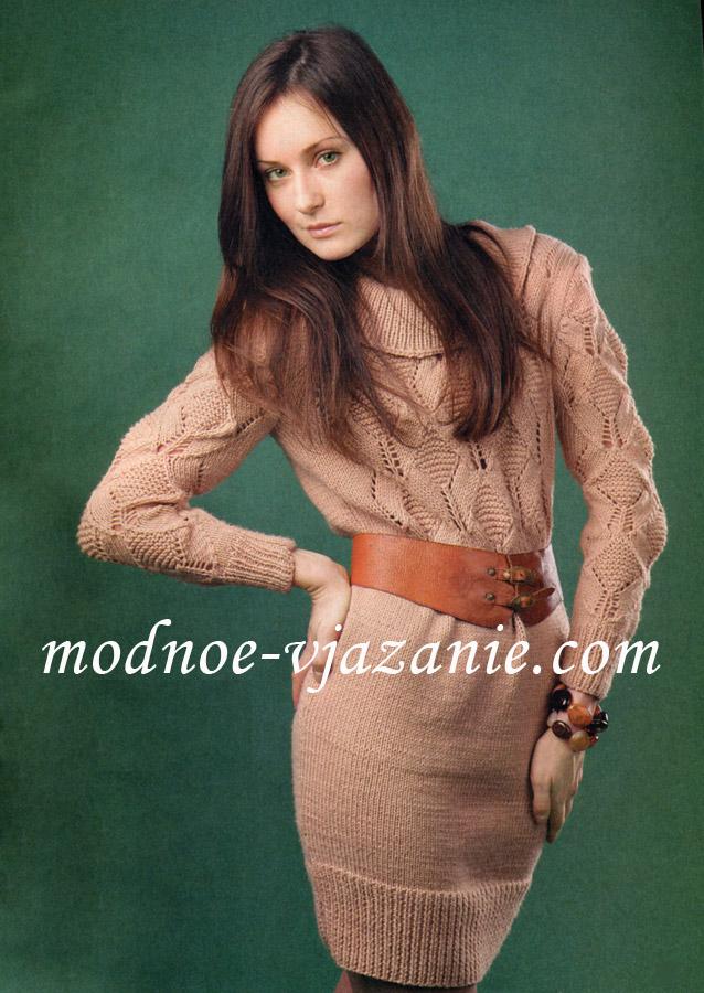 серое платье вязаное спицами . платье футляр apart каталог подростковых.