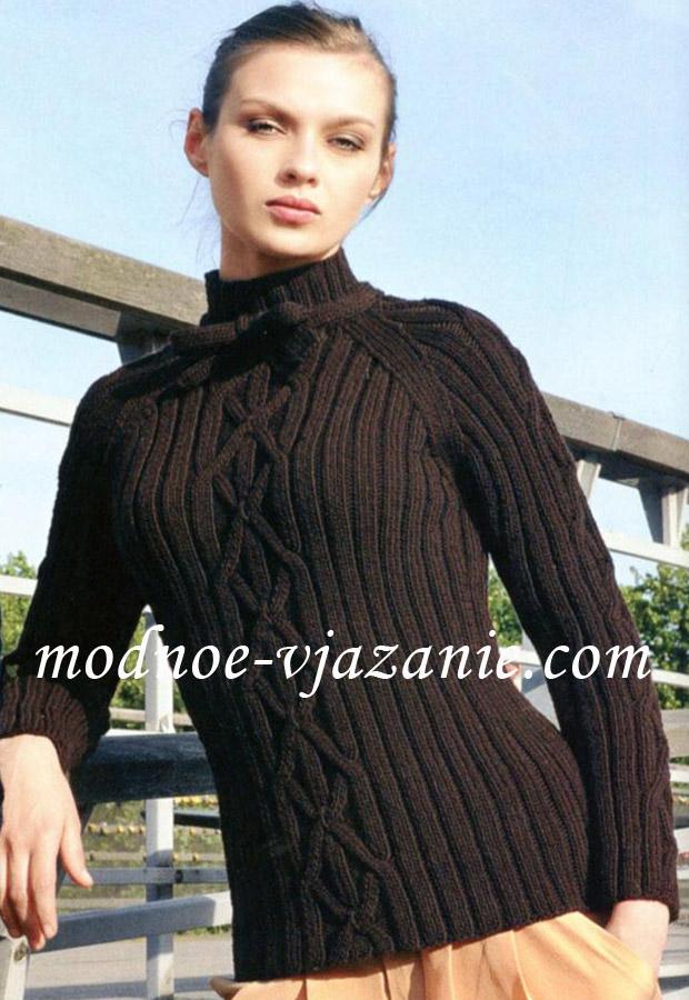 Вязаный свитер с рукавами реглан