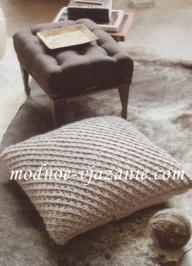 Чехол для подушки узором