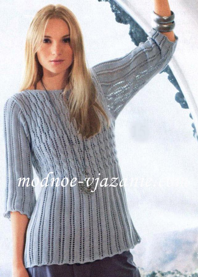 Серый узорчатый пуловер доставка