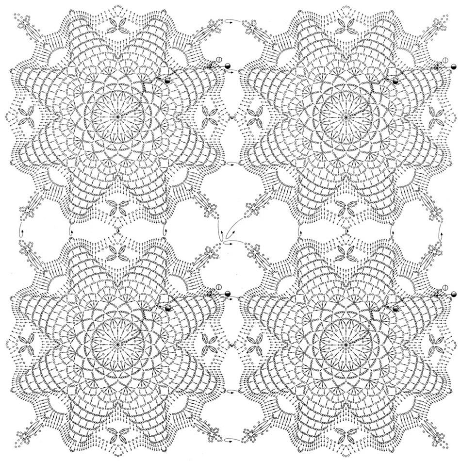 20 вариантов круглых салфеток 72