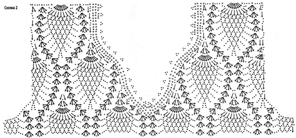Платье крючком для полных женщин со схемами