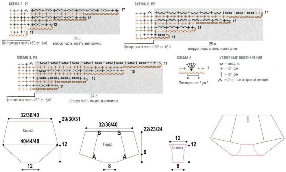 Шортики вязанные крючком со схемами