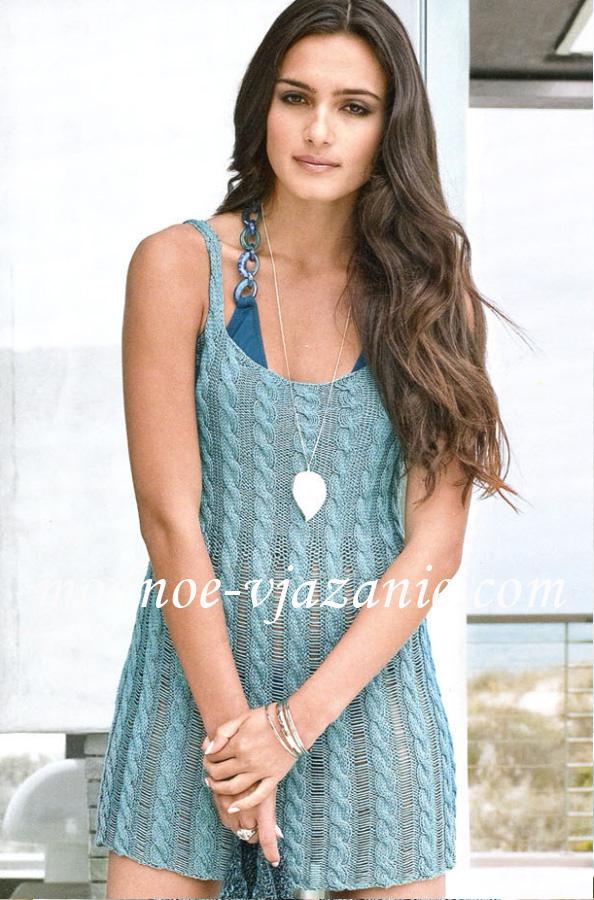 Вязаные платья на лето с описанием подборка спицами Вязание спицами, крючком, уроки вязания