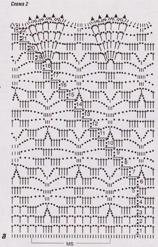 Схема вязания крючком узор паучки 18