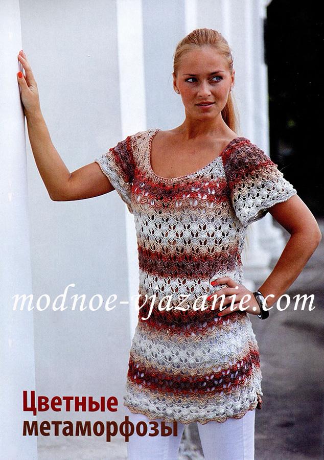 Описание: летние вязаные платья спицами со схемами
