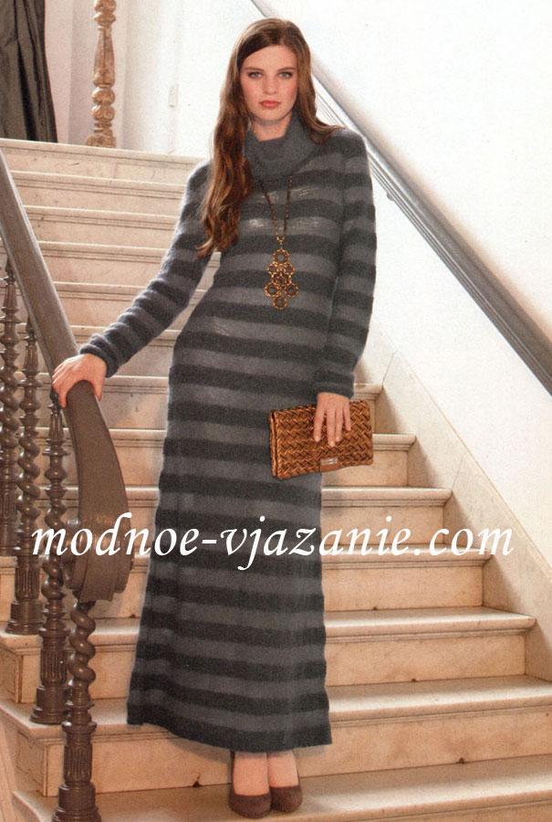Для женщин вязание спицами платье