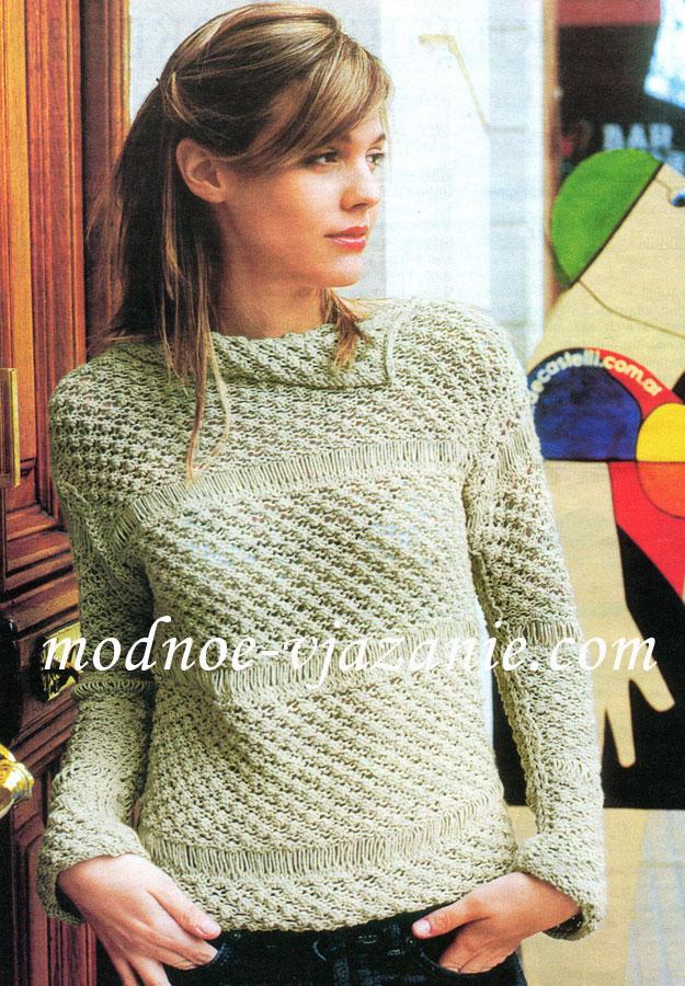 Молодежный пуловер для девушки
