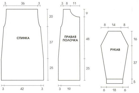 borrows: выкройка подкладки для вязаной сумки