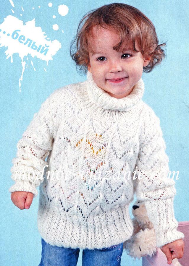 Вязание свитера для девочки на 5 лет 416