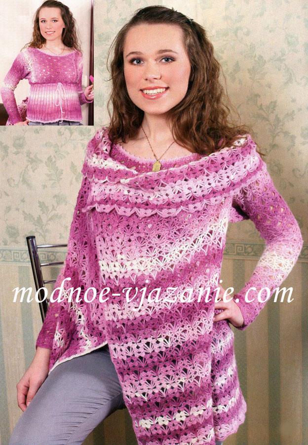 Вязанные платья для девочек спицами