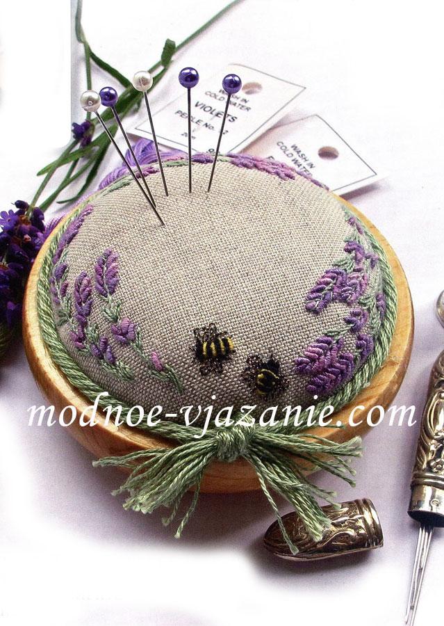 Игольница (вышивка швами)