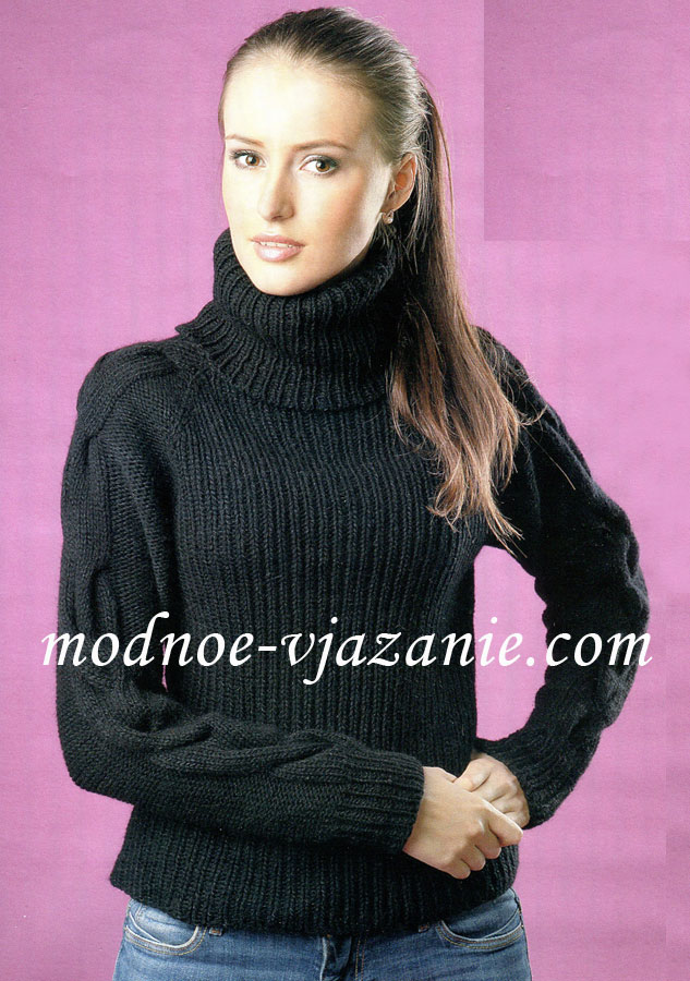 Вязание спицами свитер без швов - Master class.