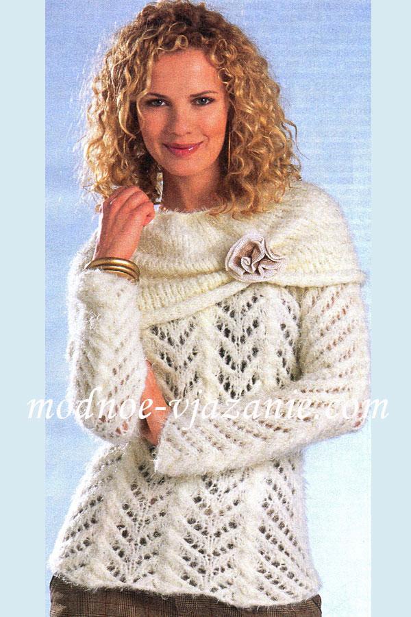 Ажурный пуловер и съемный