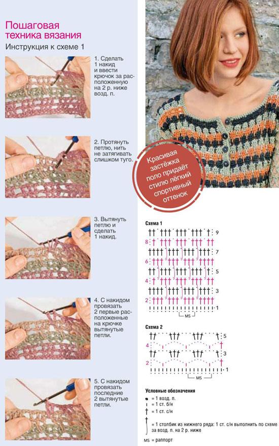 Вязание крючком кофты пошагово