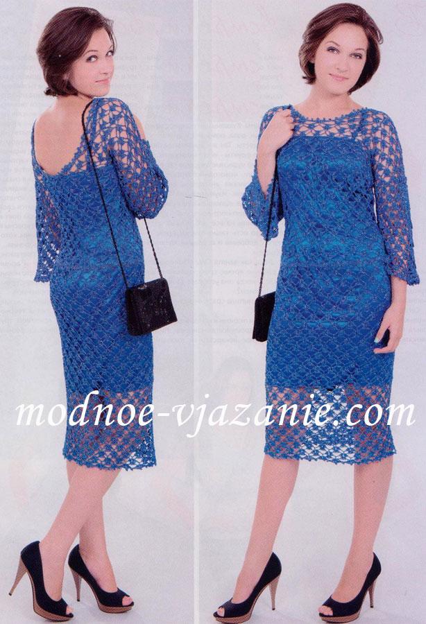 Платье с сетчатым узором