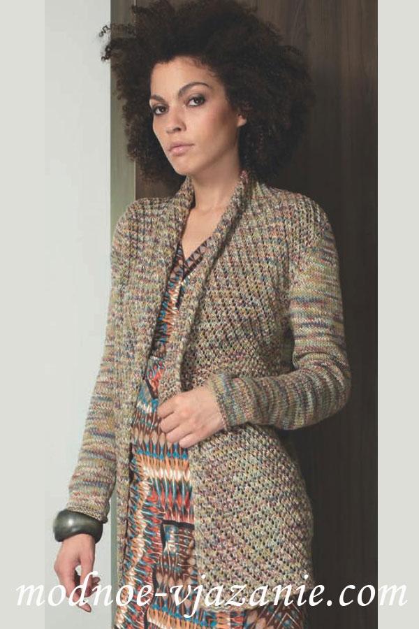 Вязаный пуловер из меланжевой пряжи с доставкой