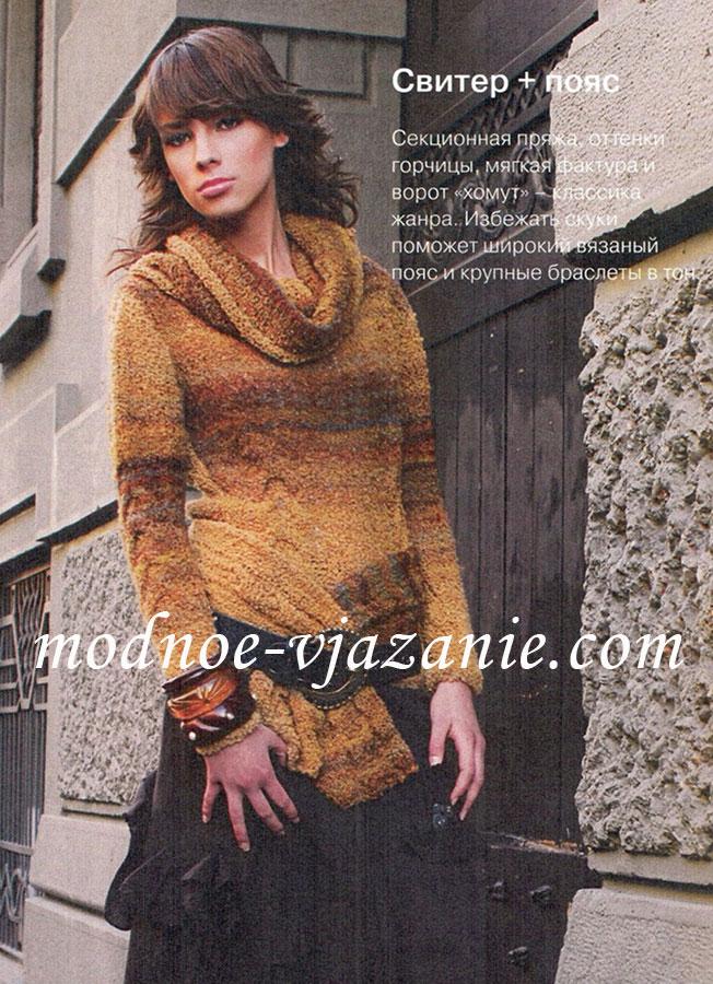 Вязание платье с хомута спицами