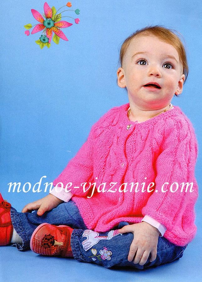 Вязание спицами детям модные
