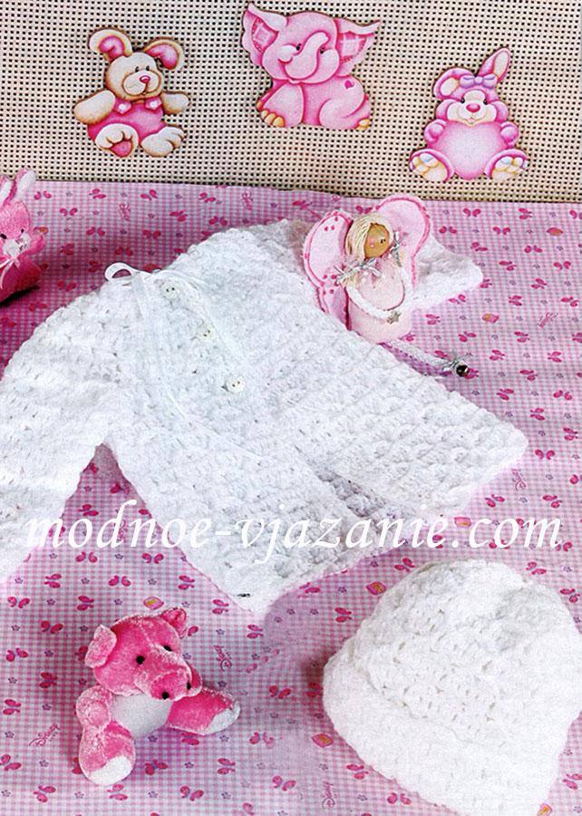 Вязание для новорожденных девочек 0-4 267
