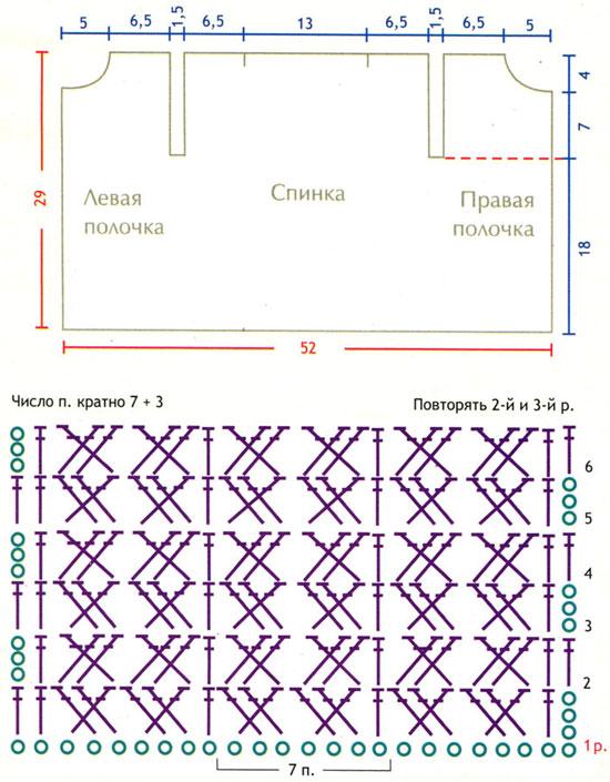 Жилеты безрукавки схемы вязания крючком для начинающих