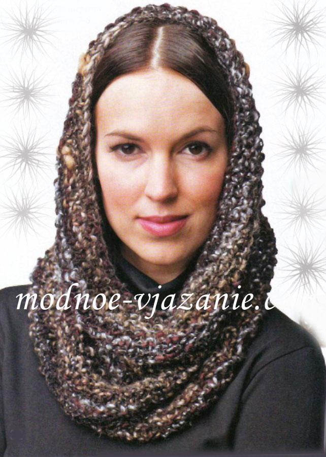 Меланжевый шарф-труба
