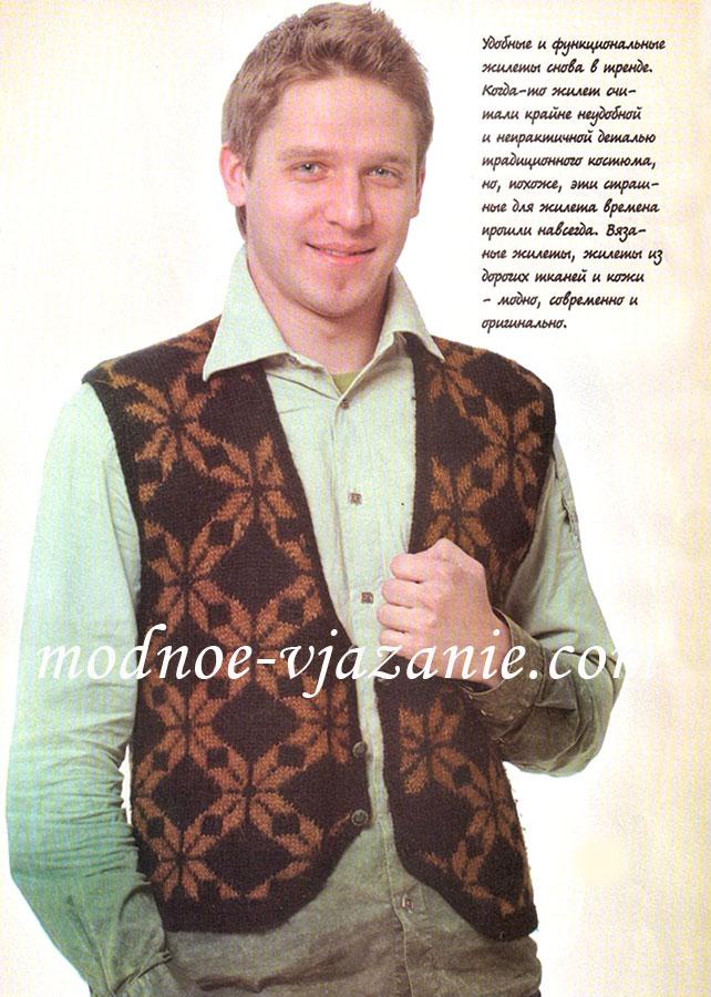 Вязание спицами жилеты мужские фото