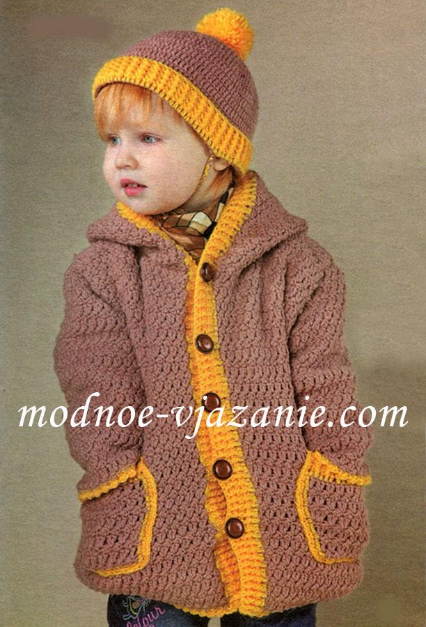 Комплект пальто и шапочка