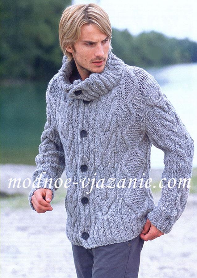 модели мужских свитеров спицами