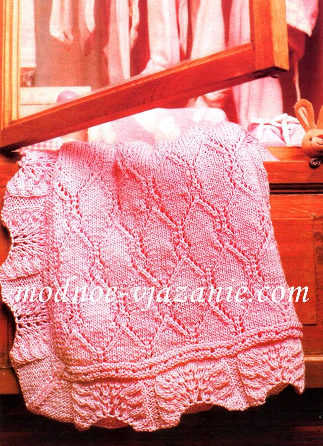 Детское одеяло на спицах