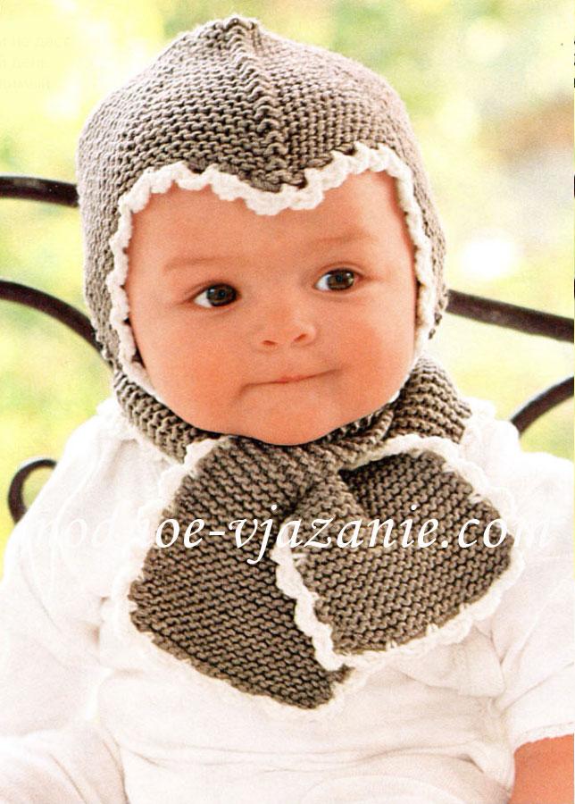 Вязание шапок для детей спицами