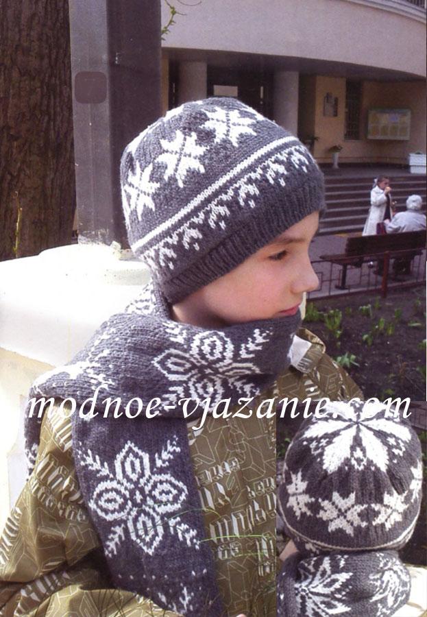 Вязание спицами шапки для подростка