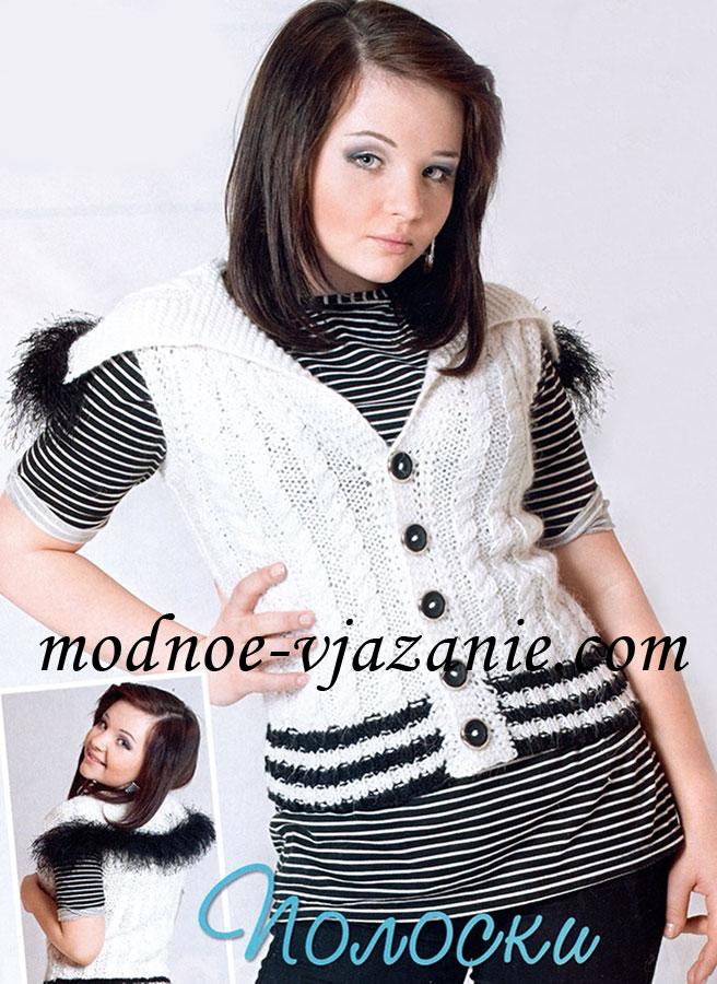 Бестлатная схема вязанной куртки спицами для женщин